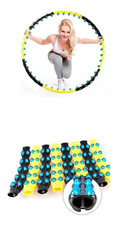 Обруч гимнастический холла-хуп с магнитами 1,6кг 110 см