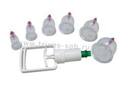 Баночки пластикатные с насосом (6 шт)