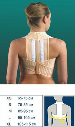 Микромассажный анатомический пояс-корсет с регулируемыми лямками