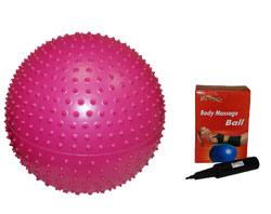 Фитбол массажный GB02 55 см в комплекте с насосом