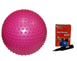 Массажный фитбол GB02 65 см с насос
